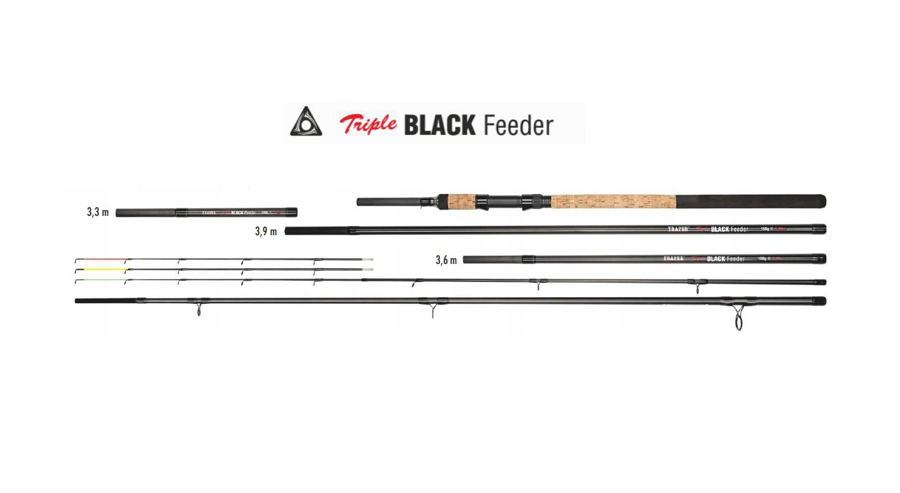 TRAPER TRIPLE BLACK FEEDER 3.3м-3.6м-3.9м/60-150